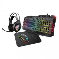 Krom Kritic Kit Gaming RGB Teclado + Auriculares + Rato + Tapete de Rato